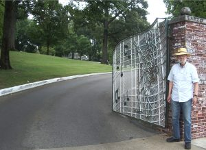 The iconic gate at Graceland